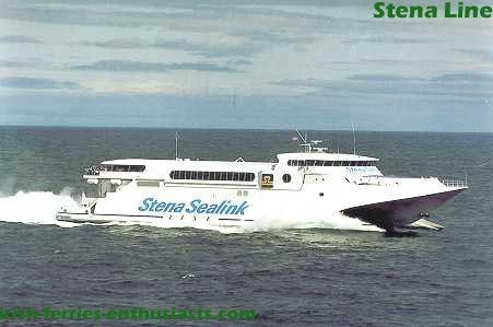 Stena Lynx operating from Dn Laoghaire
