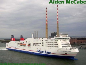 Stena Adventurer entering Dublin