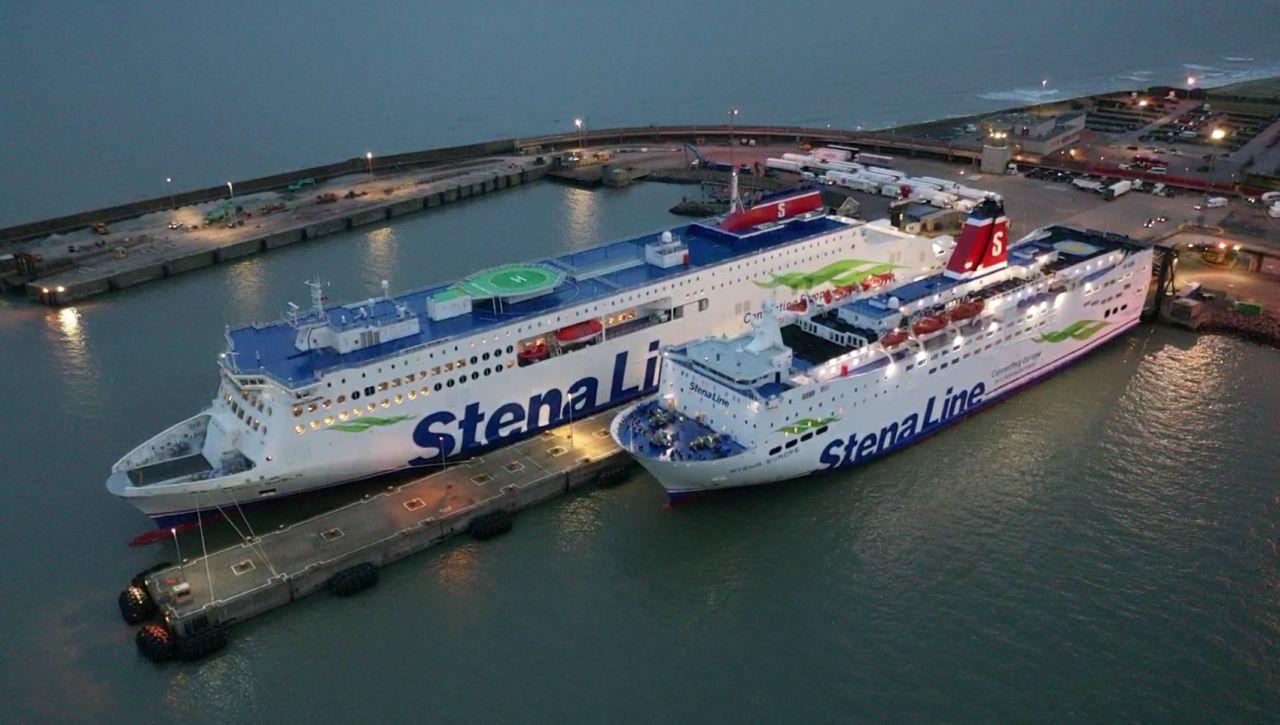 Stena Embla and Stena Europe